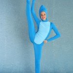 dancer in blue jumpsuit